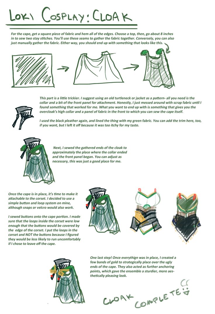 Loki cosplay guide: Cape by SirLadySketch on deviantART