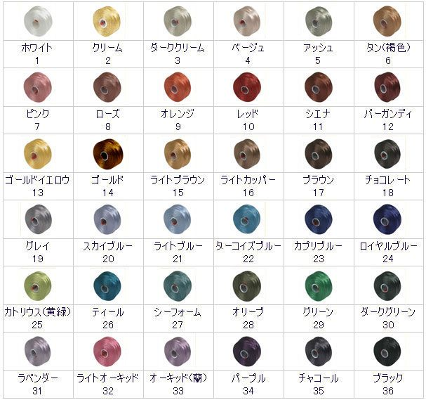 Beads thread C-Lon thread size D (0.15mm)