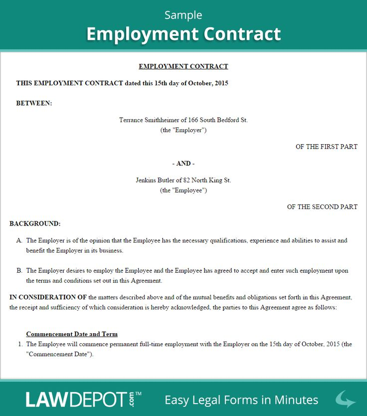 Image result for sample of an employment contract in Kenya