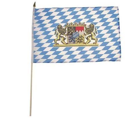 MFH Fahne, Bayern mit Wappen / mehr Infos auf: www.Guntia-Militaria-Shop.de