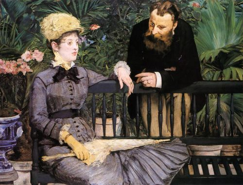 In the Conservatory - Edouard Manet  1879