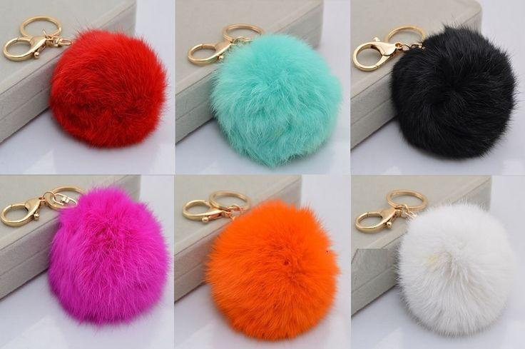 Puszysty breloczek - ogon królika  #brelok #kolory #puszysty #sprzedam