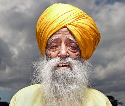 Fauja Singh -- running marathons at 100. Even if Guinness won't accept a passport as proof of age. (Whatever!)