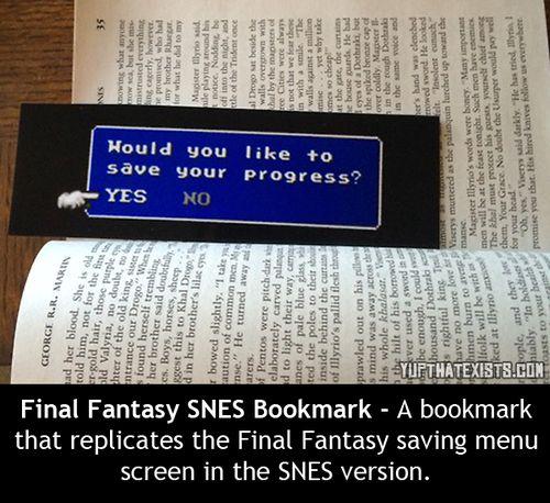 Final Fantasy SNES Bookmark
