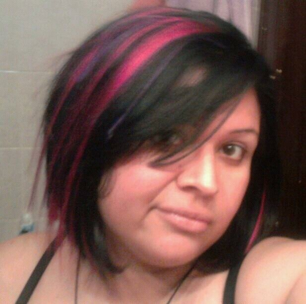 Pink Purple Hair with Highlights