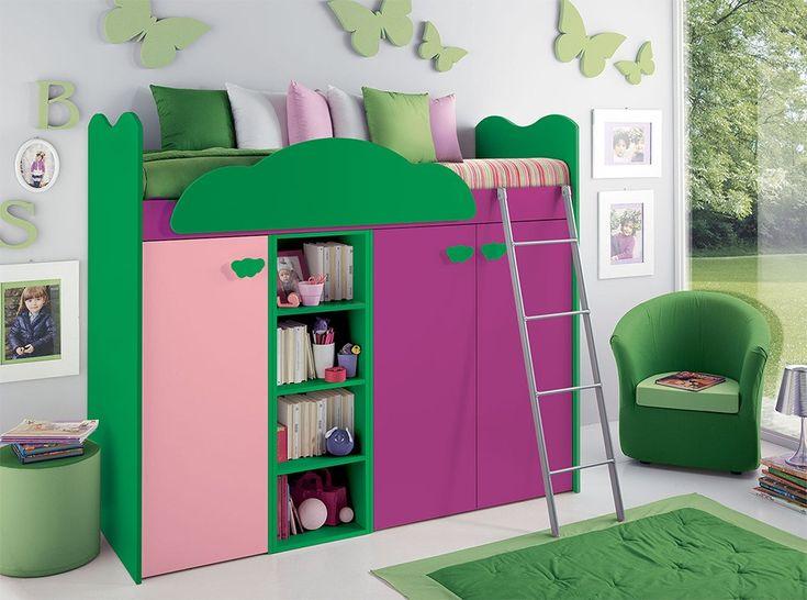 Modern Kids Storage Loft Bed VV G096 - $2,165.00