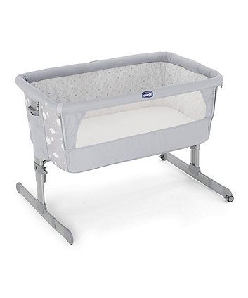 The Chicco Next 2 Me is the original side-sleeping crib, created and designed to allow you to sleep next to your baby without sharing the same bed, as recommended by the baby experts. Next 2 Me is also the lightest travel crib on the market, just 8 kgs! The crib can travel with you everywhere thanks to the practical travel bag included