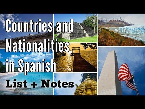 Write a list of 20 countries and nationalities lesson