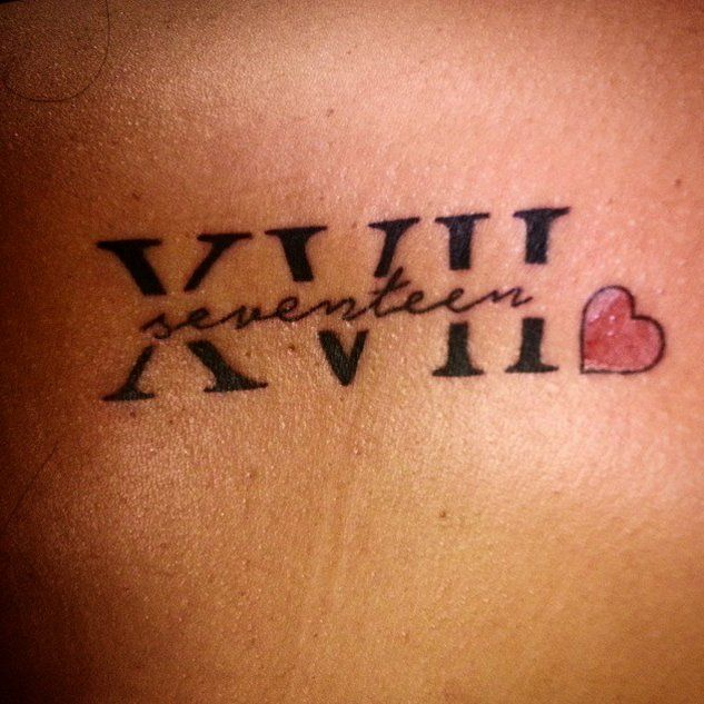Pin for Later: 30 Roman Numeral Tattoos That Will Mark Your Most Memorable Date Seventeen Squared