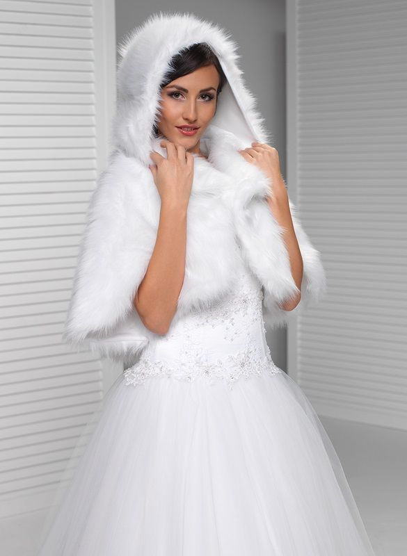 Bolerka | svatební pelerína s kapucí | Levné svatební šaty, svatební šaty levně - prodej