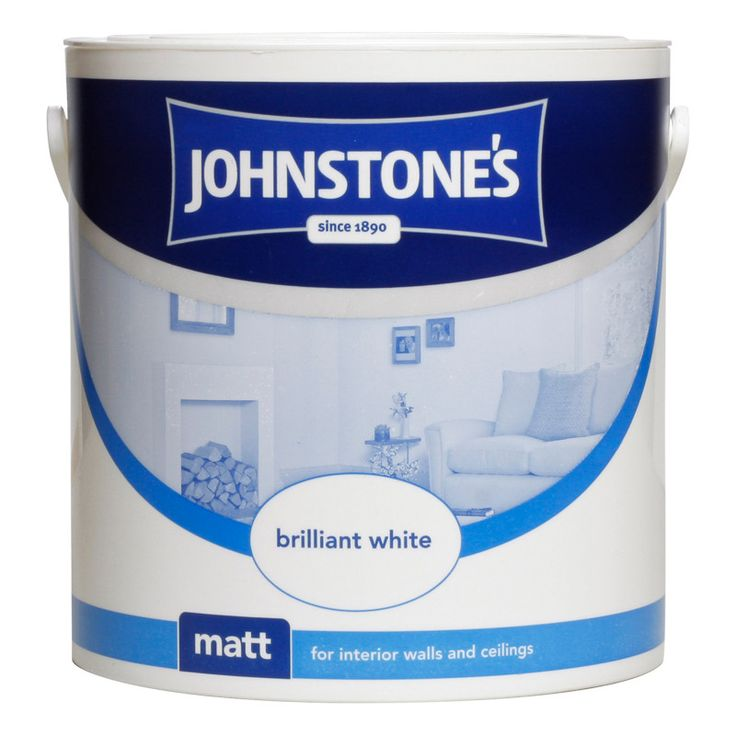 Johnstone's Paint Vinyl Matt Emulsion - Brilliant White 2.5L