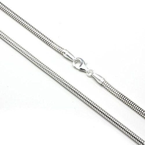 """Designer Inspired Silver 925 Plated 3mm Snake Charm Bracelet Chain 20cm 8"""" Fits Pandora Charms: Amazon.co.uk: Jewellery"""