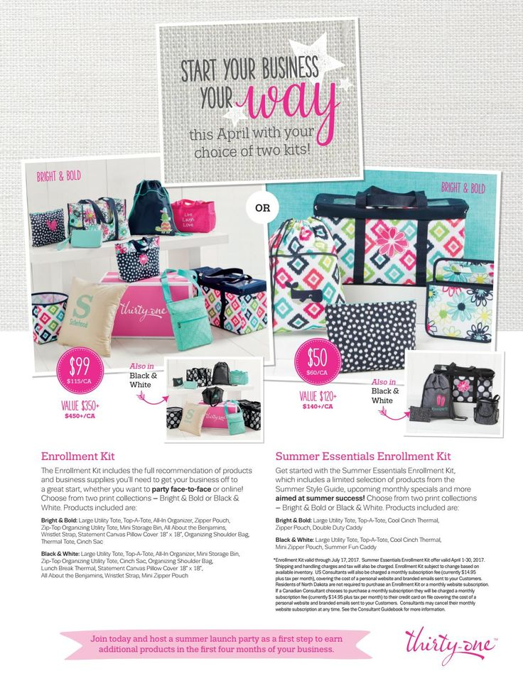 April kit options flier - You can join Thirty-One for $50 April 1st - 30th, 2017 Learn more: www.jennyhillenburg.com #thirtyone #thirtyonegifts #consultantkit #31bag #31bags  #jointhirtyone #becomeathirtyoneconsultant #findathirtyoneconsultant
