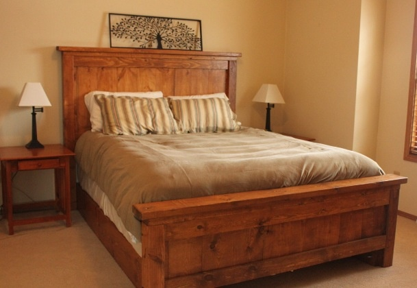 Wooden bed frame diy
