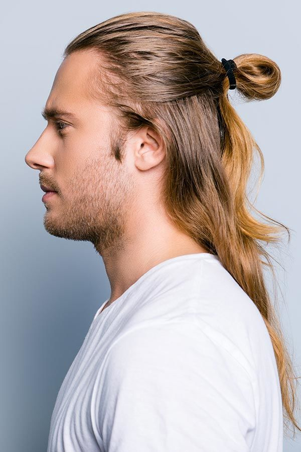 The Top Knot Guide What Is It And How Can You Wear It Man Bun Hairstyles Top Knot Hairstyles Long Hair Styles Men