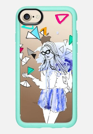 Designed by Patricia Sodré for Casetify. Shop online #casetify #iphonecase #fashion #girl #fashiongirl #watercolor #patriciasodre