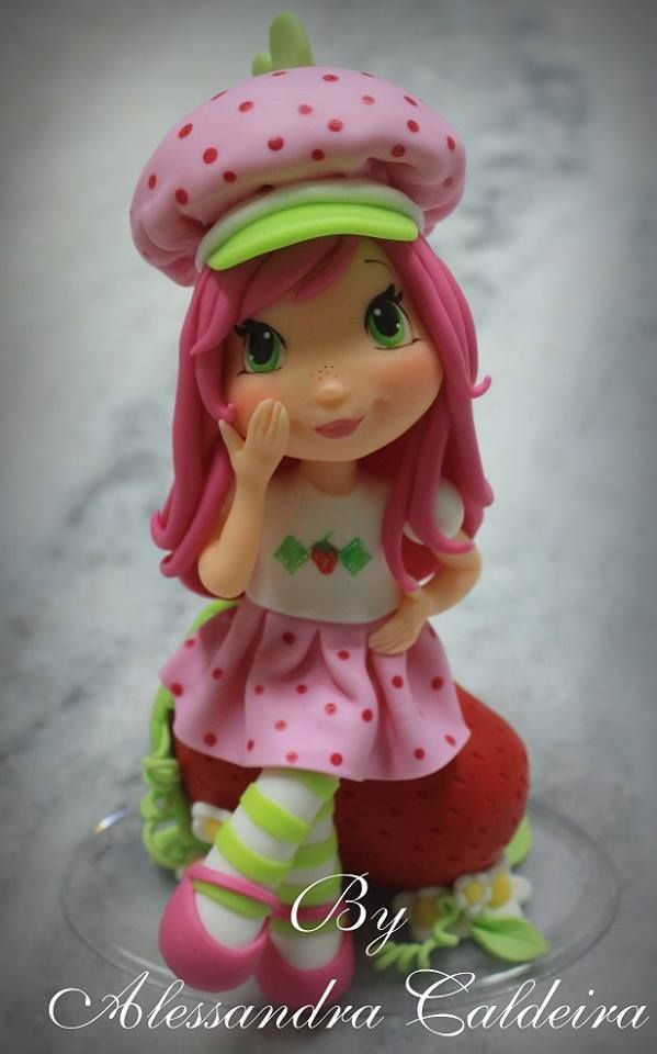 Strawberry Shortcake Doll Cake Topper