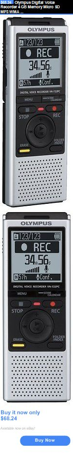 Voice Recorders Dictaphones: Olympus Digital Voice Recorder 4 Gb Memory Micro Sd Mp3 Wma Portable Usb Cable BUY IT NOW ONLY: $68.24