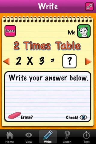 Times table app