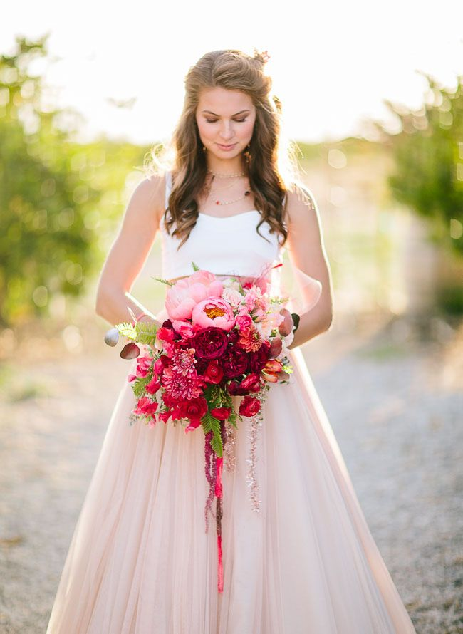 387 best images about wedding flowers bouquets on for Pink ombre wedding dress