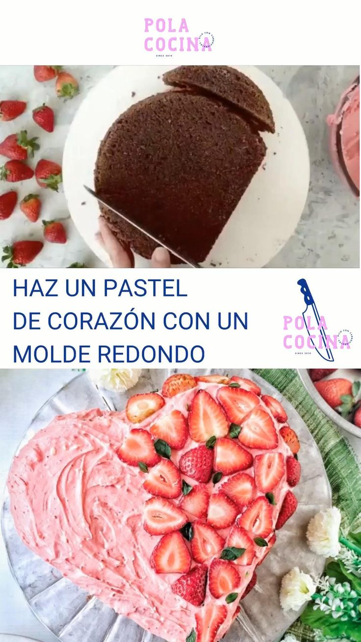 Cómo se hace un pastel de corazón con un molde circular Un Cake, Barbie, Dream Cake, Diy Home Crafts, Chocolate, Popsicles, Cake Designs, Finger Foods, Buffet