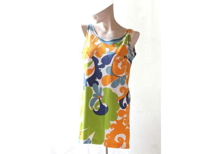 60er 70er Original Vintage Shirtmini Kleid Gr.40 von Avantgarde-Plus auf DaWanda.com