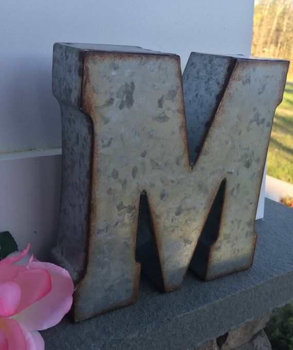 Metal Letters Wall Decor Wall Metal Letter Galvanized Letter