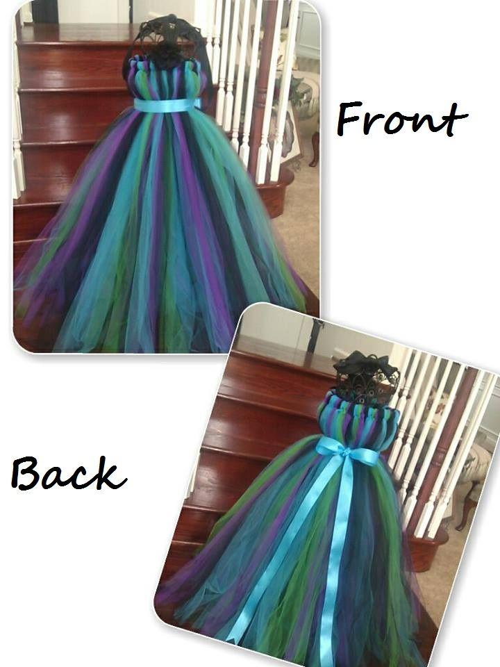 Peacock tutu dress.  peacock wedding peacock flower girl dress  www.facebook.com/gigglesandwigglestutus