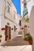 Ruelle. Fasano. Puglia. Italie Photos De Stock Libres De Droits