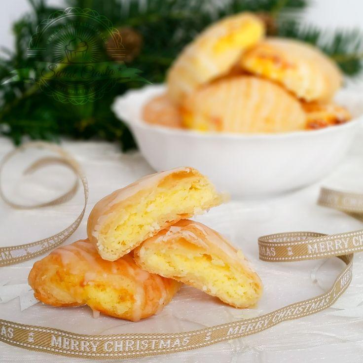 Ciasteczka kokosowo-serowe | Świat Ciasta