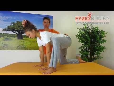 Napřímení páteře vkleče a stabilizace pánve a ramene - YouTube