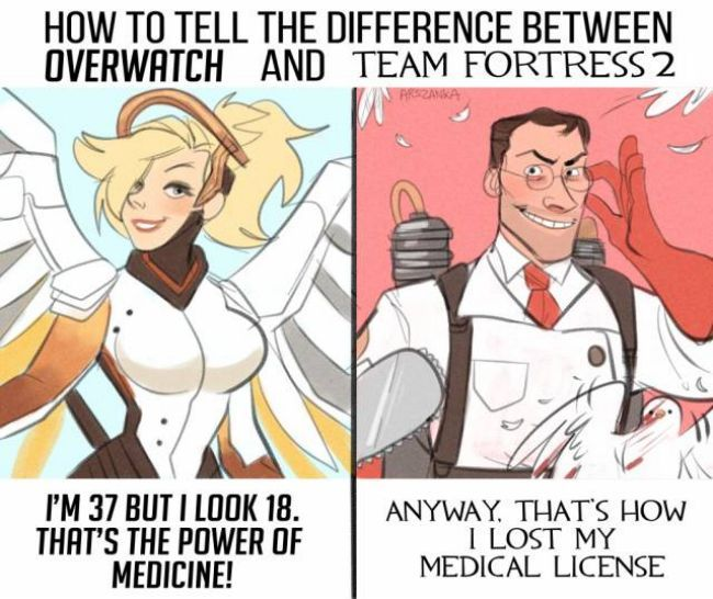 Difference between Overwatch and Team Fortress 2 - Congratulations, this made me laugh XD