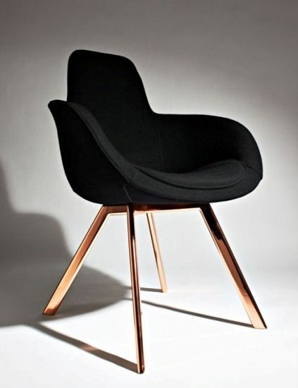Scoop High w/ #copper legs, by Tom Dixon. Pinned by www.modelina-architekci.com