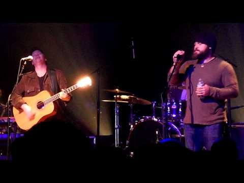 "Shawn Mullins performing ""Anchored in You"" with guest Zac Brown at the Variety Playhouse in Atlanta"
