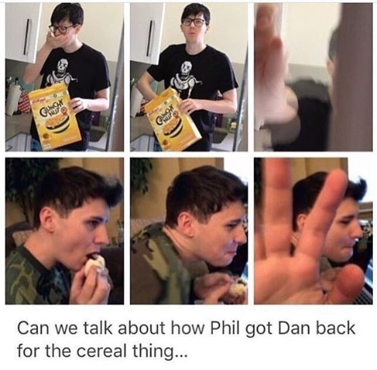 Was the one one with Phil through the glass door