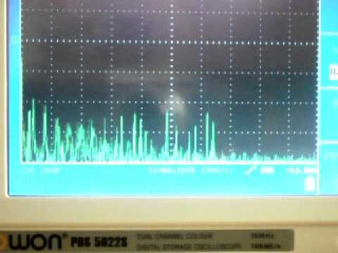 """This clip shows how computers emit electromagnetic interference (EMI) and how an oscilloscope with a fast fourier transform (FFT) feature can be used to detect it. Are computers producing excessive EMI and RFI that can lead to illness in humans? The medical symptoms are currently documented as """"Electromagnetic Hypersensitivity""""."""