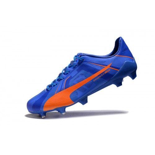 Barato Puma evoSPEED SL Tricks H2H FG Azul Naranja Botas De Futbol