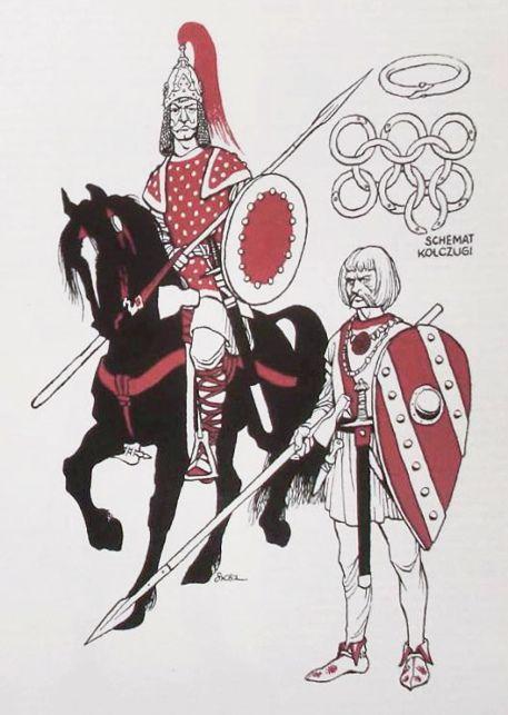 Polish warrior, late 10th century.