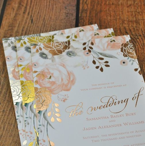 best 25+ foil stamped wedding invitation ideas ideas on pinterest, Wedding invitations