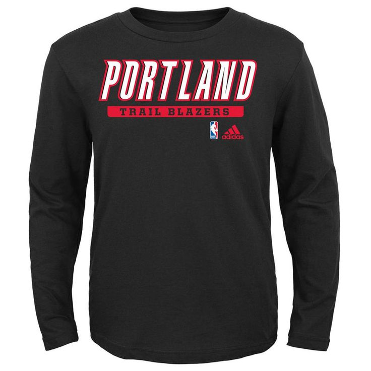 Portland Trail Blazers adidas Youth Cut and Paste Long Sleeve T-Shirt -  Black