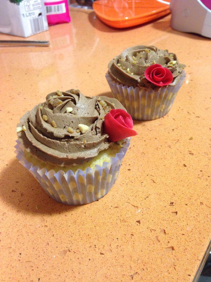 Cupcake de Vainilla y buttercream de Nutella