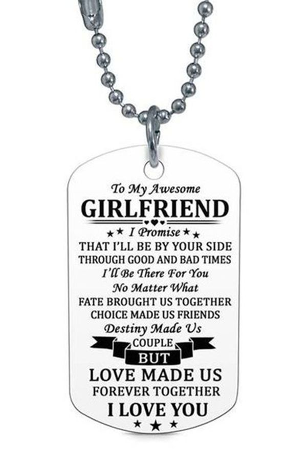 Dog Tags Necklace Girlfriend Gift From Boyfriend I Love You Anniversary Birthday