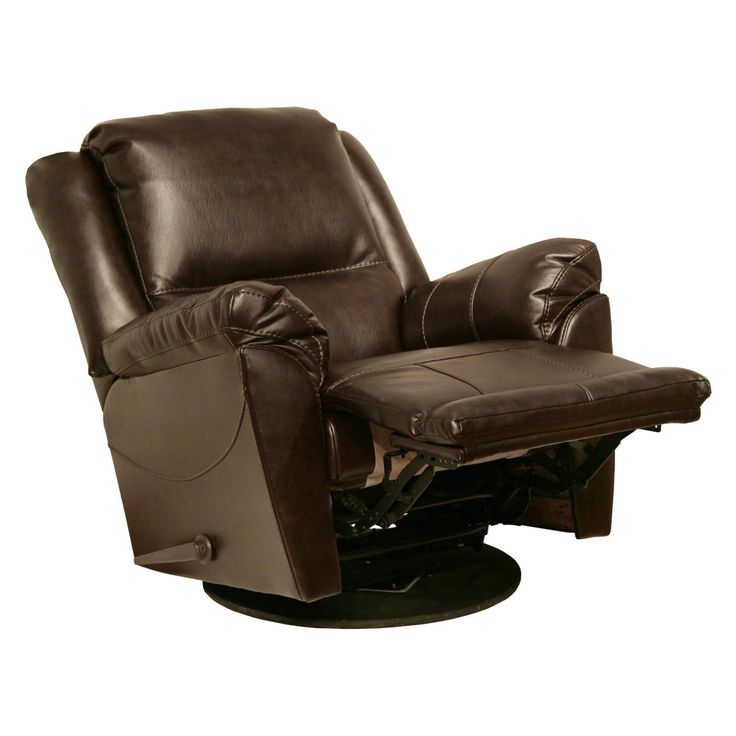 Catnapper Maverick Chaise Leather Swivel Glider Recliner - 4546-5 1215-09/3015-09