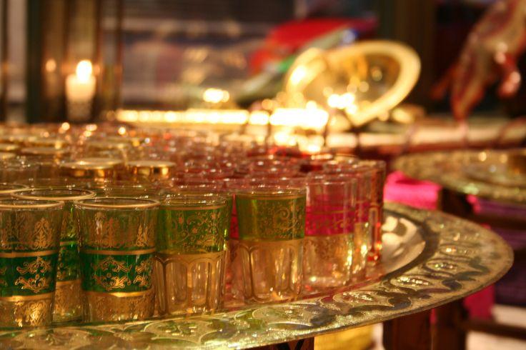 Morroccan tea glasses