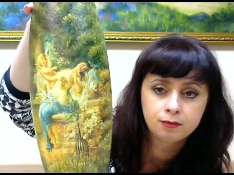 Валентина Сухова Художественный декупаж на вазе - YouTube
