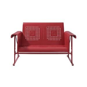 Danny Glider Loveseat in Red
