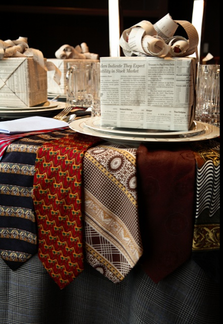 masculine tablescape