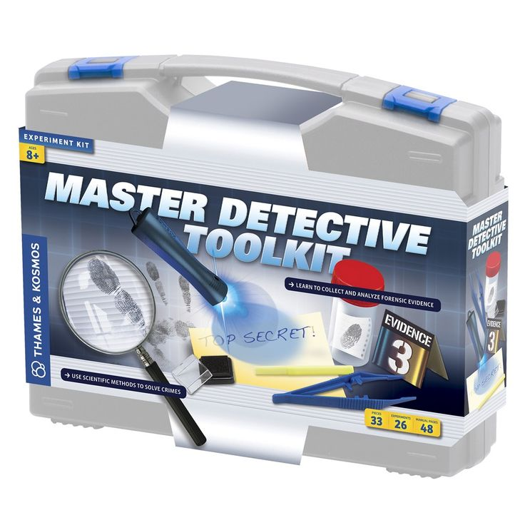 Girls age 9 love to investigate so they will enjoy playing with this Thames & Kosmos Master Detective Toolkit. A fab gift for future inspectors.