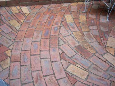 Unusual Paving Pattern With Bricks Garden Inspiration