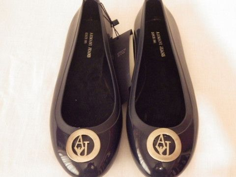 Armani Navy Blue Leather pumps